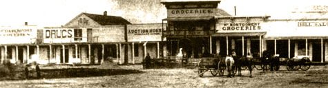 North Side of Courthouse Square, circa 1870s