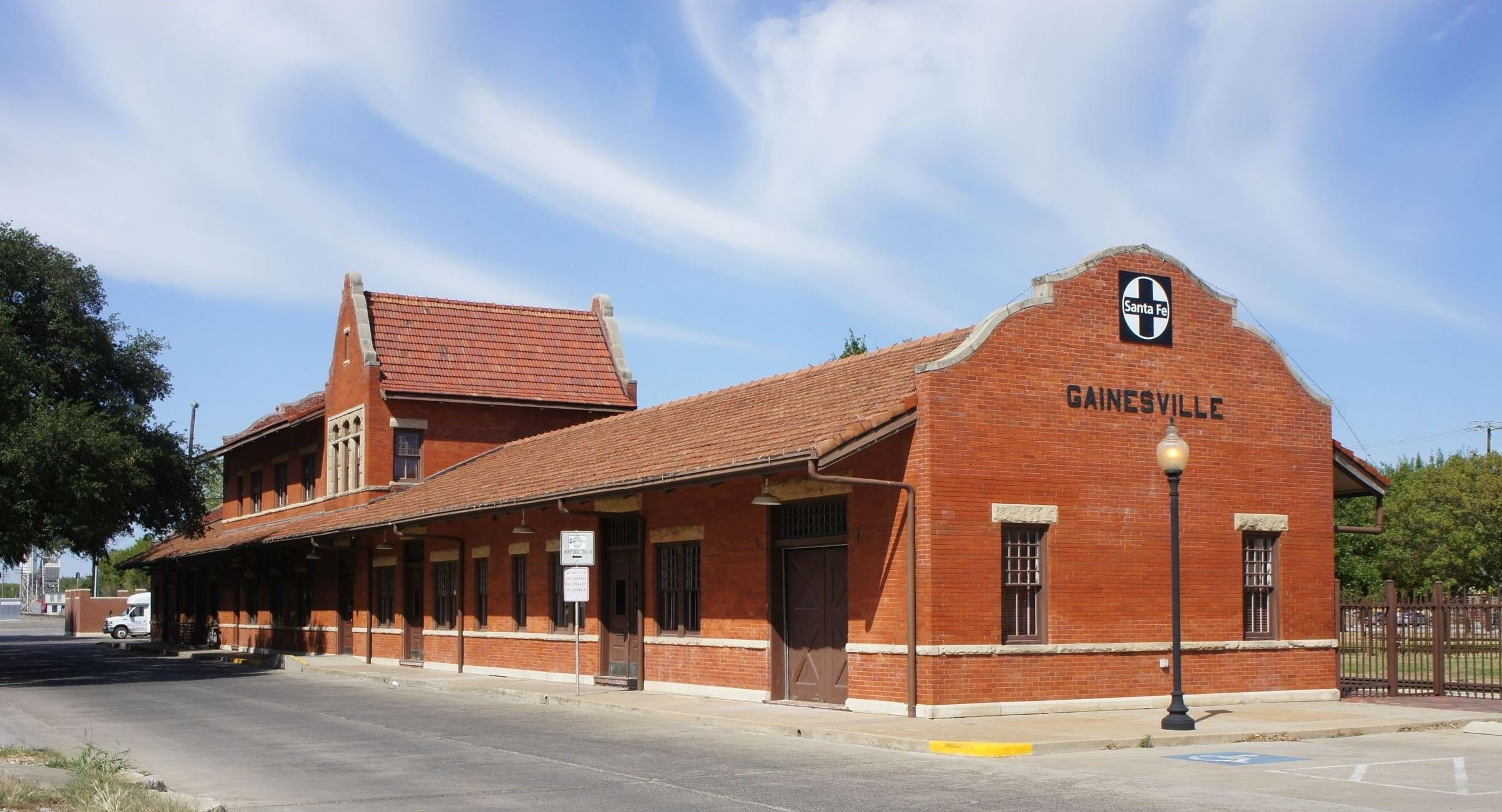 Santa Fe Depot with Parking Lot